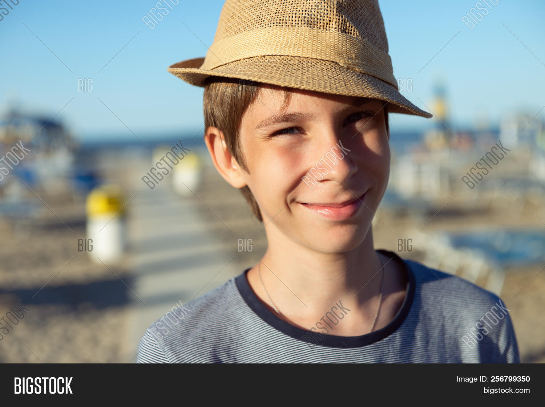 Young Boy Hat Posing Image Photo Free Trial Bigstock