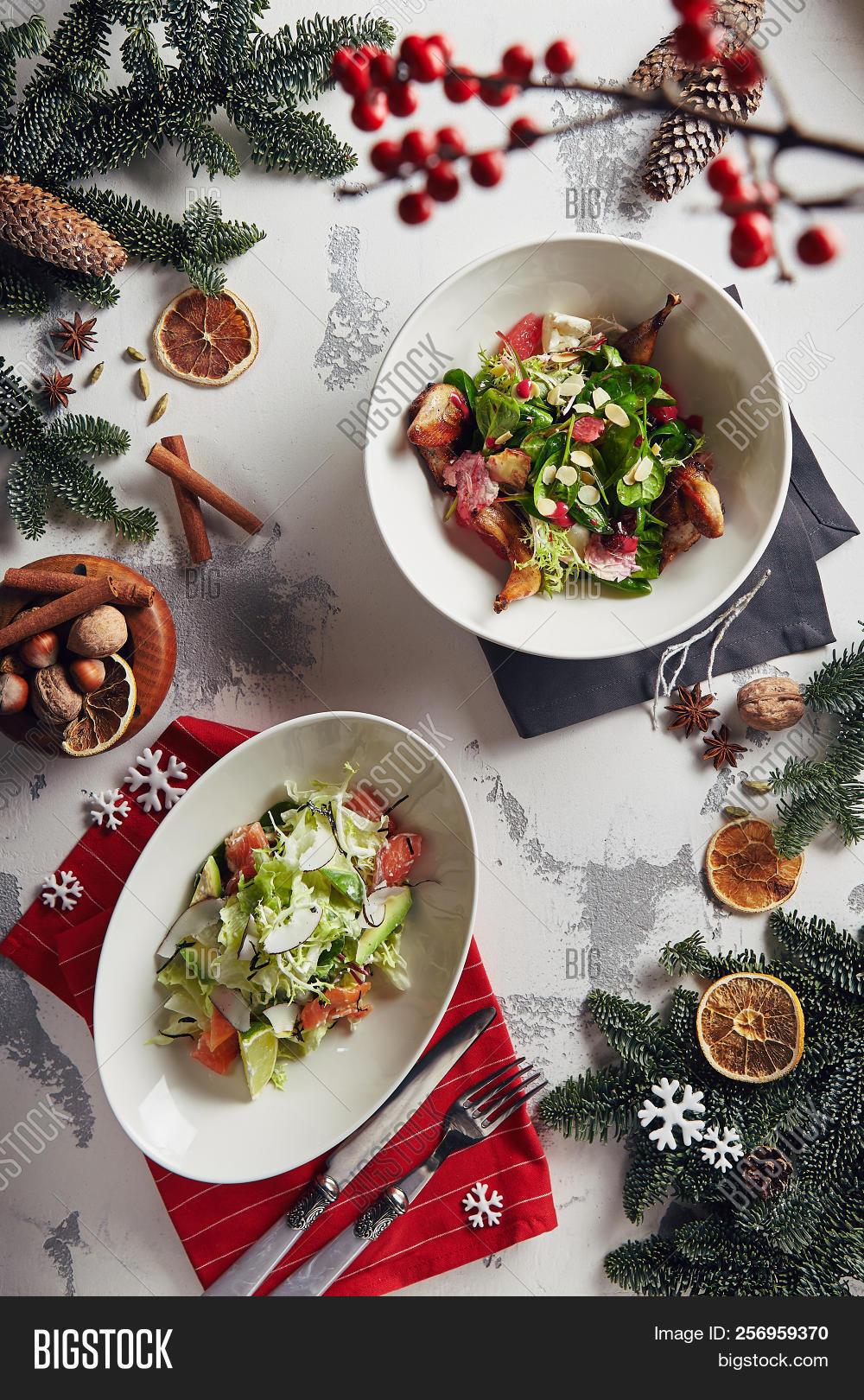 New tasty salads - festive table decoration 71