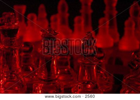 chess, game, pieces, king, queen, red, wallpaper, background, low light, abstract poster