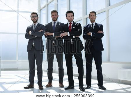 in full growth.a group of confident business people