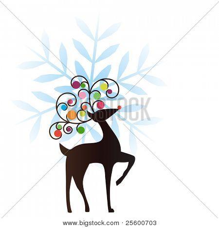 reindeer snowflake