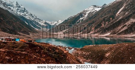 Beautiful View Of Lake Saif Al Maluk In Naran Valley, Pakistan