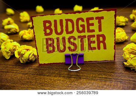 Word Writing Text Budget Buster. Business Concept For Carefree Spending Bargains Unnecessary Purchas