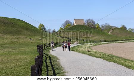Uppsala, Sweden On May 10. Outdoor View At Old Upsala Protection Area, The Kings Mounds Of The Legen