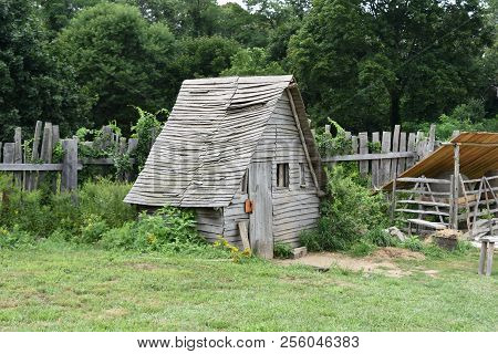 Wooden Rustic Chicken Coop In Plymouth Massachusetts