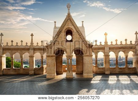 View On Budapest From Fishing Bastion At Sunrise