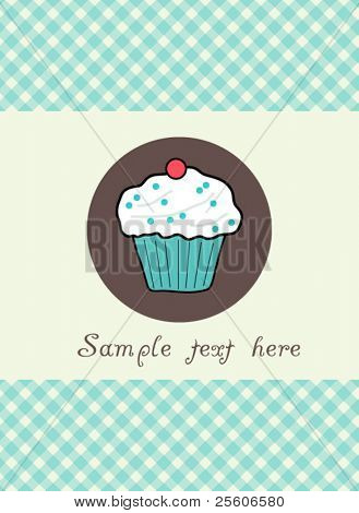 Beautiful vector muffin card
