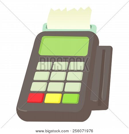 Card Reader Icon. Cartoon Illustration Of Card Reader Icon For Web