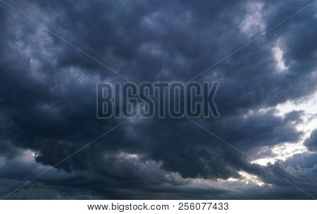 Storm Cloud And Dark Sky Before Thunder Storm