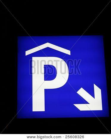 parking sign lit up