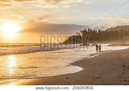 El Zonte, El Salvador. February 2018. A View Of The Beach In El Zonte In El Salvador.