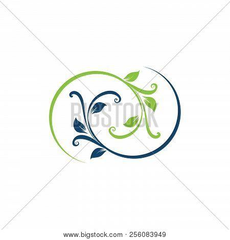 Nature Infinity Logo. Floral Logo. Flower Icon. Floral Emblem. Cosmetics, Spa, Beauty Salon, Decorat