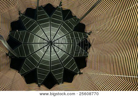 abstract ceiling design in a shape of a flower poster