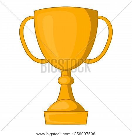 Golden Trophy Cup Icon. Cartoon Illustration Of Golden Trophy Cup Icon For Web