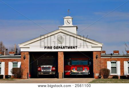 Urban Fire Station House