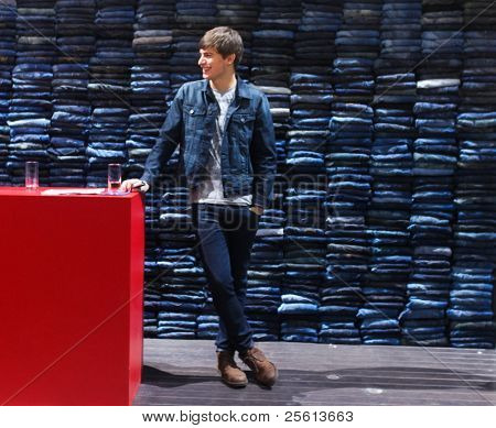 BERLIN - JANUARY 19: Mavi Jeans stand at Bread & Butter fair on January 19, 2011 in Berlin, Germany. Tens of thousands of visitors attended the tradeshow this year.