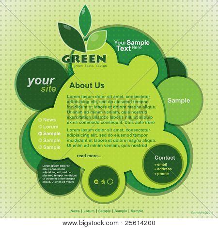 Abstract web site green design,vector template