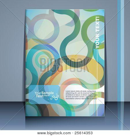 Flyer design, vector