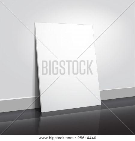 Empty flyer design, vector