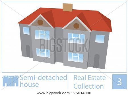 halb Freistehendes Haus