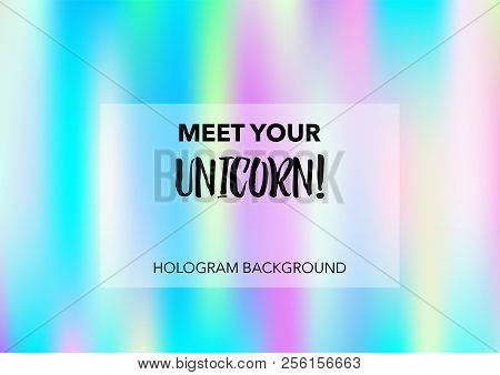 Magic Hologram Lights Vector Background. Luxury Trendy Dreamy Pearlescent Color Overlay. Cool Funky