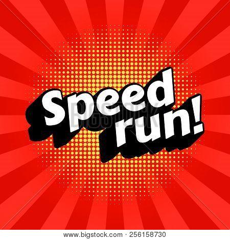 Speedrun Video Game Walkthrough Genre. Vector, Eps 10