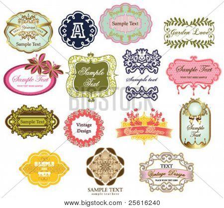 colección de etiquetas Vintage 2