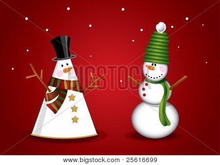 unique christmas snowman
