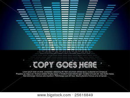 blue digital music background design