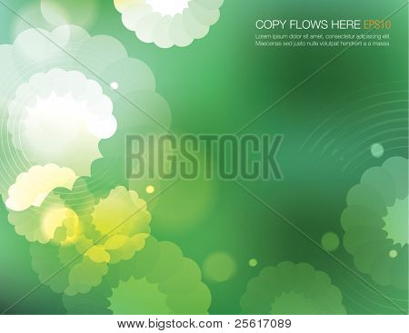 abstract flowery background design