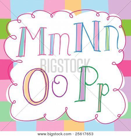 soft, colorful alphabet set