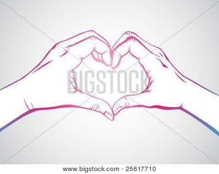 hand forming a heart shape
