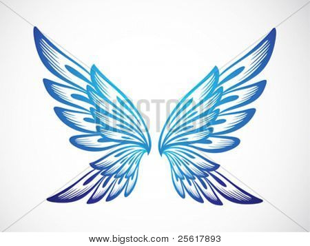 light blue wing ornament