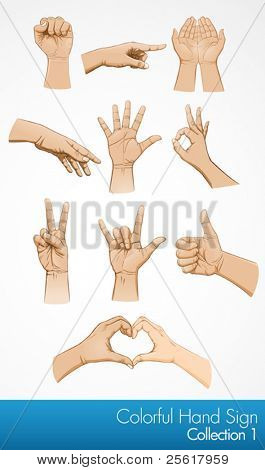 Hand symbol illustration collection