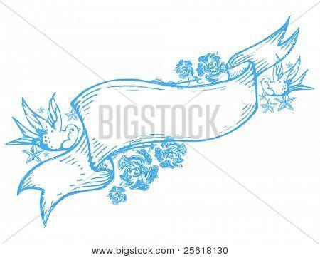 Bluebird Doodle Banner
