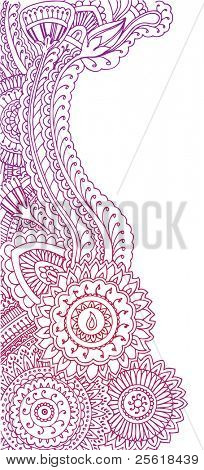 Henna style doodles