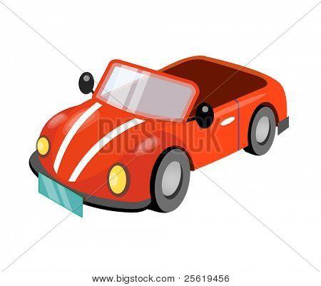 Cute cartoon car