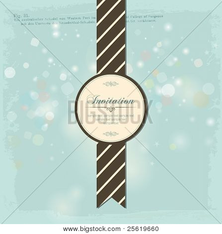 Vintage Invitation Card Design. A Beautiful Label with Baubles.