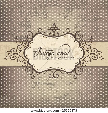 Luxury vintage frame template