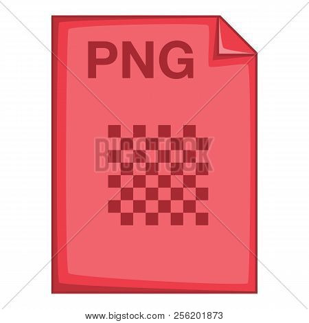 PNG file icon. Cartoon illustration of PNG file icon for web poster