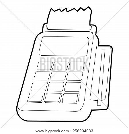 Card Reader Icon. Outline Illustration Of Card Reader Icon For Web