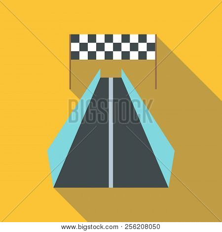 Race Road For Cyclists Icon. Flat Illustration Of Race Road For Cyclists Icon For Web