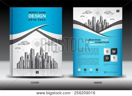 Blue Cover Template Vector Photo Free Trial Bigstock