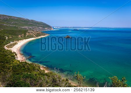 Amazing Blue Water Beach In Arrábida, Alentejo In Portugal