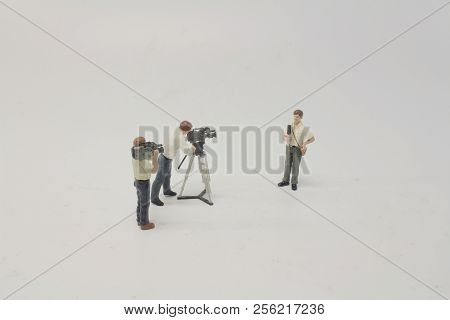 A Mini Figure Dolls Photographer Take Picture