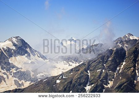 View On Mountains From Big Caucasian Ridge