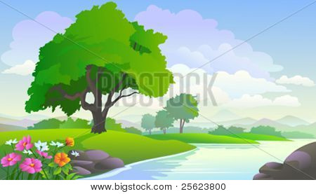 BEAUTIFUL LAKE VIEW AND TREES