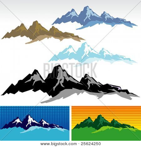 New ! Amazing Mountain And Hills SYMBOLS