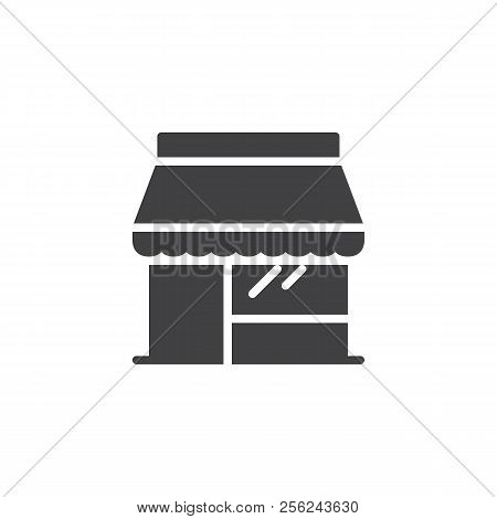 Shop Store Vector Icon. Filled Flat Sign For Mobile Concept And Web Design. Storefront Simple Solid