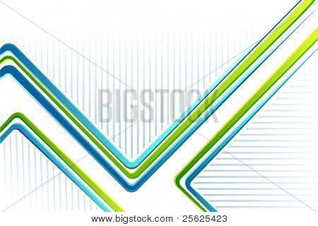 illustration of colorful lines on abstract background